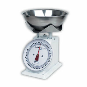 Detecto T25b Top Loading Dial Scales W Bowl 25 lb Capacity