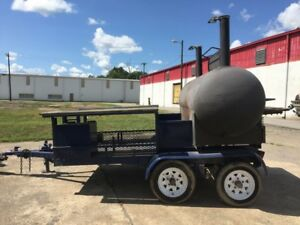 Bbq Charcoal Smoker Grill W Trailer