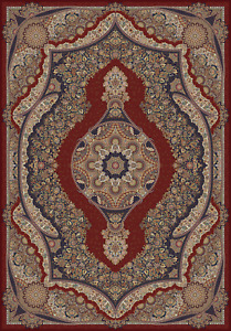 7 X 10 New Burgundy Kerman Luxury Bamboo Silk Made In Belgium 900 Kpsi Qum Rug