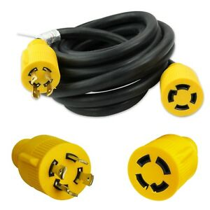 Generator Extension Cord 15 Ft 4 Prong Power Cable 10 4 30 Amp Adapter Plug New