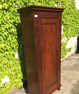 One Door Wardrobe In Fruit Wood Restored 4