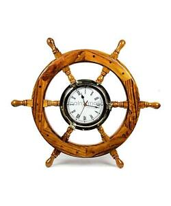 Bay Home Decor Gifts 18 Inches Glorious Nautical Ship Wheel With Brass Polished