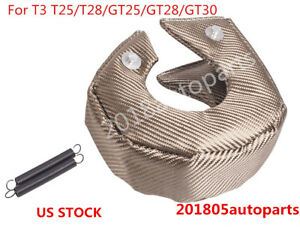 Titanium Turbo Blanket Heat Shield Barrier Turbo Charger Cover Wrap T3 Gt25 Gt30