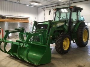 2014 John Deere 6115d Tractor W Loader And Grapple