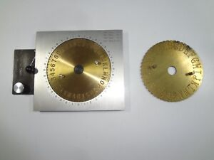 New Hermes Engravograph Jc4 Circular Engraving Fixture With 2 Lettering Dials