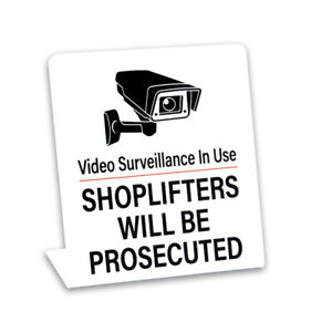 Video Surveillance Security Signs 3 Pack Plastic Counter Signs Free Shipping