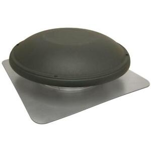 Compact Attic Fan Roof Mount 1500 Cfm Shingle Matched Weathered Wood Color