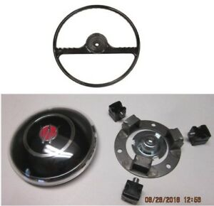 Black Steering Wheel Horn Button Kitfits Willys Jeep Pickup Wagon Delivery 59 63
