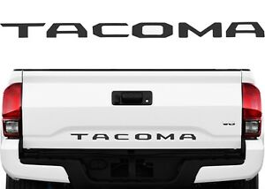 Matte Black Tailgate Letter Inserts Emblem Badge For 2016 2019 Toyota Tacoma New