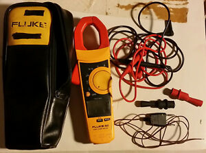 Fluke 902 True Rms Hvac Clamp Meter W temp Probe Leads Alligator Clips