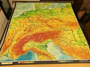 Vintage Haack Gotha Mitteleuropa Germany Europe World Pull Down History Map 858s