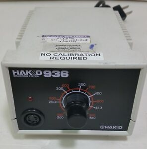 Genuine Hakko 936 Soldering Station Base Only tested free Shipping White