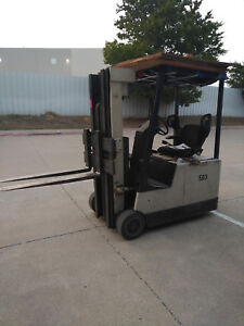 Crown 35sctt 172 3 wheel Electric Forklift With Clamp Set up