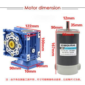 1pcs Dc12 24v 300w 5d300gn rv Worm Gear Motor Adjustable Speed With Self locking