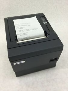 Epson Tm t88iiip M129c Thermal Receipt Printer W Back Stand Works Free Ship
