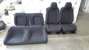 2015 2017 Ford Mustang Gt Cloth Seats Front rear Black Oem