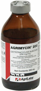 Agrimycin 200 250ml Injectable Antibiotic For Beef Cattle Dairy Cattle Swine