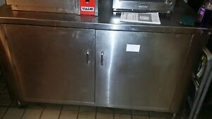 Commercial Stainless Steel Storage Dish Cabinet 2 Door 56 W X 34 D X 34