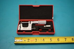 Used Starrett 220xfl 1 No 220 1 Micrometer Multi anvil With Case