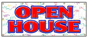 Open House Banner Sign For Sale Broker Apartment Home House Real Estate Agent