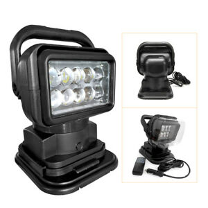 1pc Cree 50w 360 Led Remote Control Search Light Lamp For Boat Suv Camping