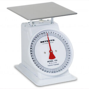 Detecto T50 t 50 Top Loading Large Dial Scale 50 lb Capacity