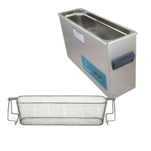 Crest P1200h 45 Ultrasonic Cleaner heat Timer mesh Basket