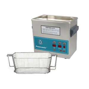 Crest P230d 45 Ultrasonic Cleaner W Power Control mesh Basket