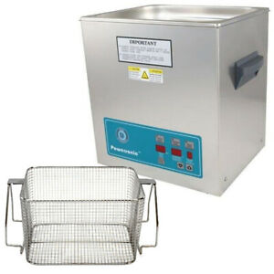 Crest P1100d 132 Ultrasonic Cleaner W Power Control mesh Basket