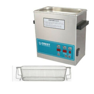 Crest P360d 45 Ultrasonic Cleaner W Power Control perf Basket