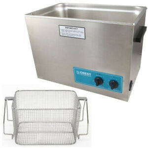 Crest P1800h 45 Ultrasonic Cleaner heat Timer mesh Basket