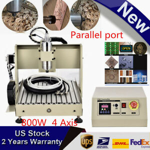 800w 4 Axis Cnc Router Engraver Milling Machine Engraving Cutting Desktop 3040t