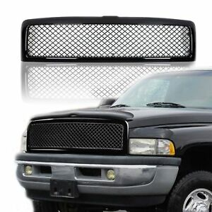 Black Honeycomb Diamond Mesh Front Upper Bumper Grill Guard For 94 02 Dodge Ram
