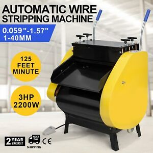 Automatic Wire Stripping Machine With Foot Pedal Cable Stripper Peeling Cutting