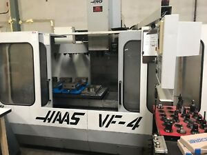 Haas Vf 4 Cnc Vertical Machining Center Prewired 4th And 5th Axis
