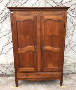 Antique 2 Doors Proven Al Wardrobe In Walnut Restored In Progress