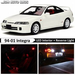 10x Bulbs Red Interior Reverse Led Lights Package Fits Acura Integra 1994 2001