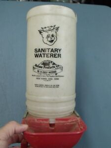 Vintage 1 Gallon No 79 Creep Waterer For Baby Pig Piglet Hog Sioux Rapids Iowa