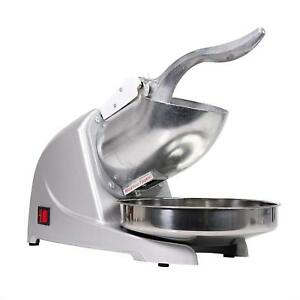 Wyzworks Commercial Dual Blade Ice Shaver Crusher Quick Shaved Ice Maker Silver