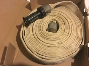 1 1 2 Fire Hose With Brass Fittings And One Spray Nozzle 50 Long