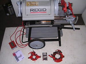 Ridgid 1224 Pipe Threader 1 2 4 Vg excellant 3 Die Heads 711 714 To 6 W 161