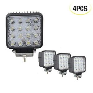 4pcs 4inch 48w Pods Led Work Light Bar Flood Beam Offroad 4wd Ute Driving Lamps