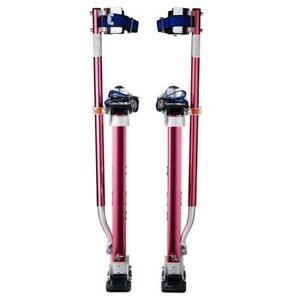 Pentagon 18 In To 30 In Adjustable Height Red Drywall Stilts sancos