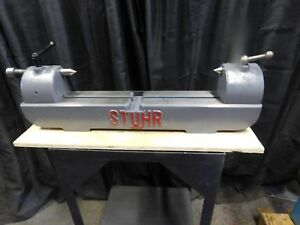 18 x 6 Stuhr Preision Bench Centers W 2 Ctrs recent Refurb W 0 10mm Run Out