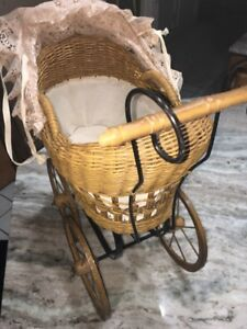 26 Inch Baby Carriage Vintage Collectible Doll Stroller