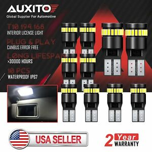 10x Auxito Super Bright Canbus 194 168 Led Light Bulb Xenon White 24 Smd 2825 Df