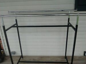 Lot Of 5 Double Rail Garment Rack Commercial H Rack 60 x 23 x 48 78 01 001
