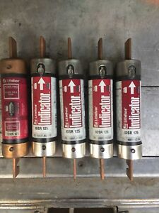 Lot Of 5 Littelfuse Idsr125 125 Amp 600 Volt Time Delay Class Rk5 Fuse Tested