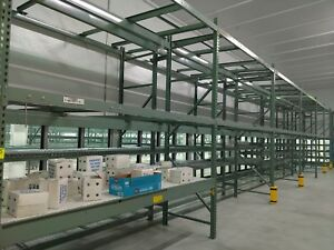 Pallet Rack Gravity Push Pull 6 Bays