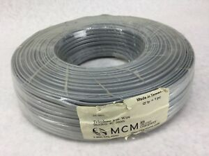 Mcm Telephone Flat Wire 26awg 4c 500ft New Sealed Free Shipping